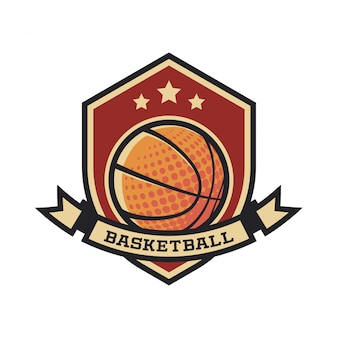Logotipo do basquetebol do vintage