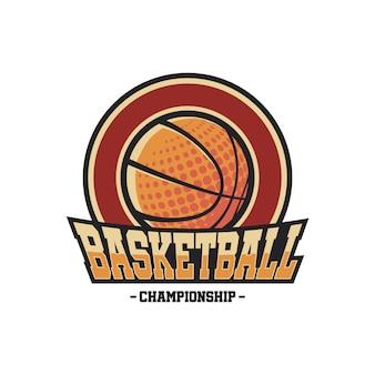 Logotipo do basquetebol do vintage