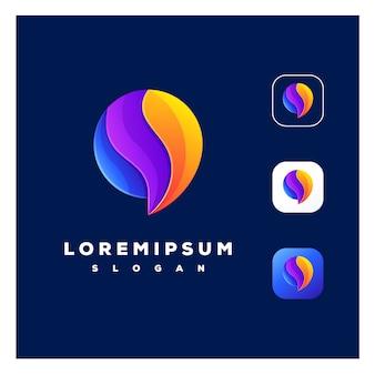 Logotipo do bate-papo abstrato colorido