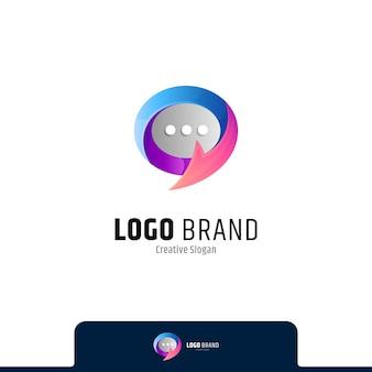 Logotipo do bate-papo com forma de seta