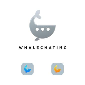 Logotipo do bate-papo da baleia