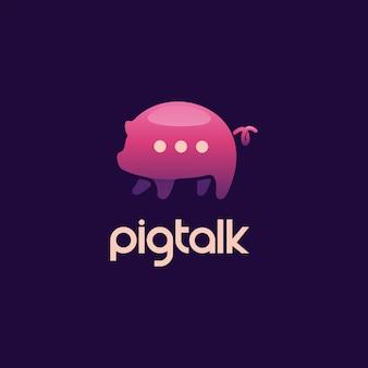 Logotipo do bate-papo do porco