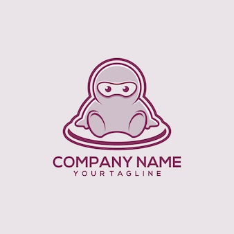 Logotipo do bebê ninja