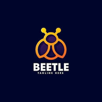 Logotipo do beetle gradient line art style