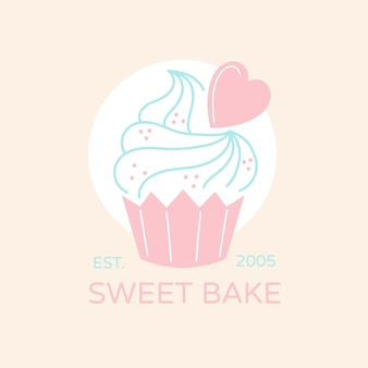 Logotipo do bolo de padaria