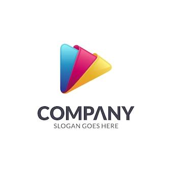 Logotipo do botão de reprodução de mídia