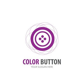 Logotipo do botão ð¡roupa para empresa comercial. projeto de ideia de logotipo de botão de roupa simples. conceito de identidade corporativa. ícone de botão de roupas criativas da coleção de acessórios.