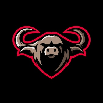 Logotipo do buffalo e sport