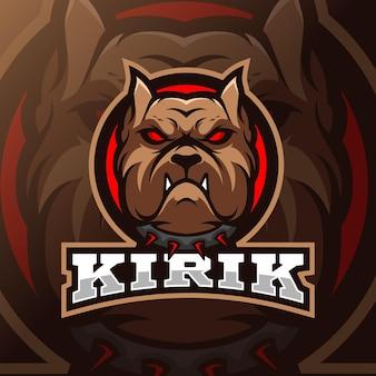 Logotipo do bulldog mascote esport
