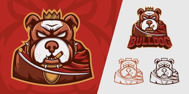 Logotipo do bulldog para esportes e esportes