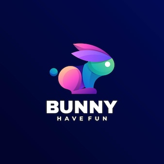 Logotipo do bunny gradient colorful style
