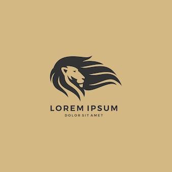 Logotipo do cabelo do leão