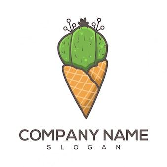 Logotipo do cacto de cone