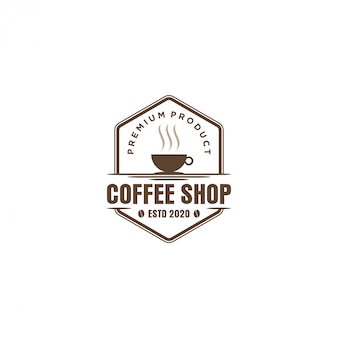 Logotipo do café para café resto e etiqueta do produto
