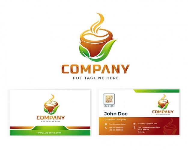 Logotipo do café para empresa de negócios