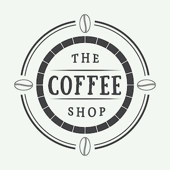 Logotipo do café, rótulo ou emblema.