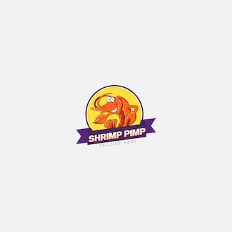 Logotipo do cafetão de camarão