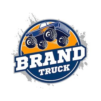 Logotipo do caminhão de monstro