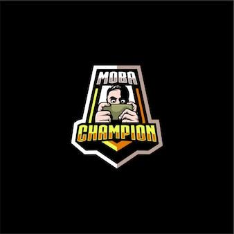 Logotipo do campeão de jogos