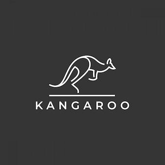 Logotipo do canguru escuro