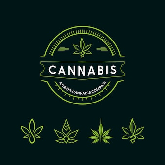 Logotipo do cannabis vintage