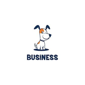 Logotipo do cão bonito