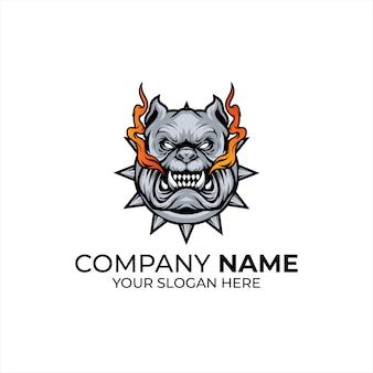 Logotipo do cão bravo