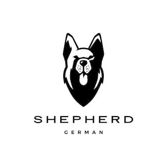 Logotipo do cão de cabeça de pastor alemão