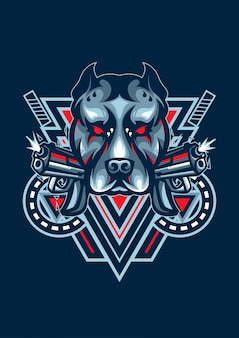 Logotipo do cão esport