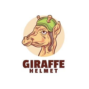 Logotipo do capacete da girafa