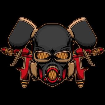 Logotipo do capacete da pistola de pulverização