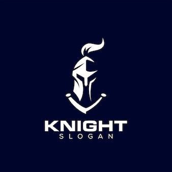Logotipo do capacete espartano de knight