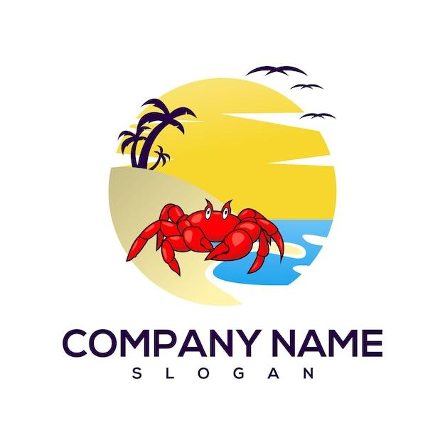 Logotipo do caranguejo da praia