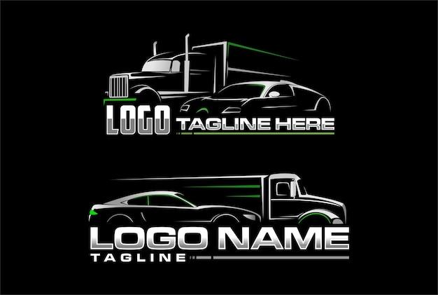 Logotipo do carro e semi caminhão