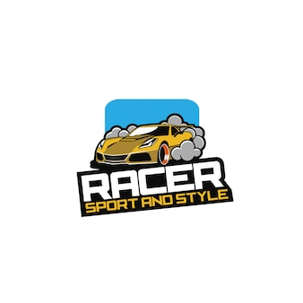 Logotipo do carro racer