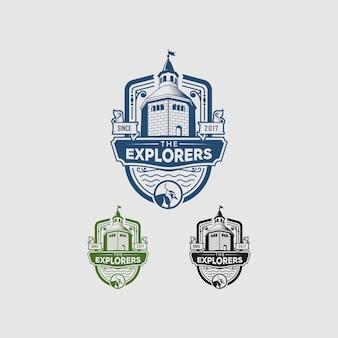 Logotipo do castle fun vintage