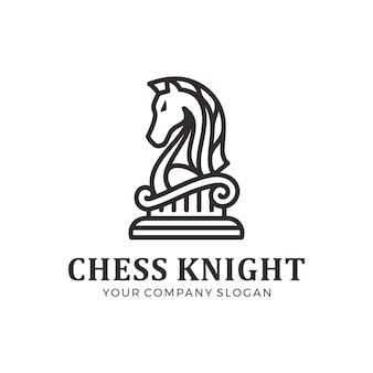 Logotipo do cavaleiro de xadrez, logotipo do cavalo