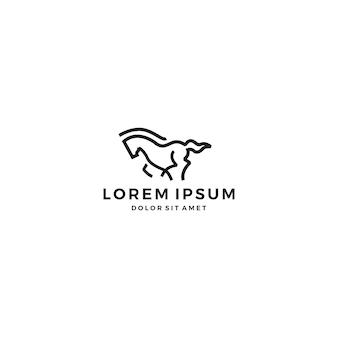 Logotipo do cavalo correndo