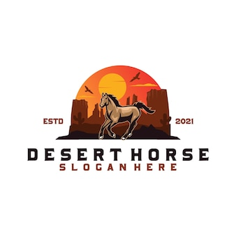 Logotipo do cavalo do deserto
