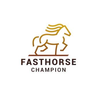 Logotipo do cavalo dourado