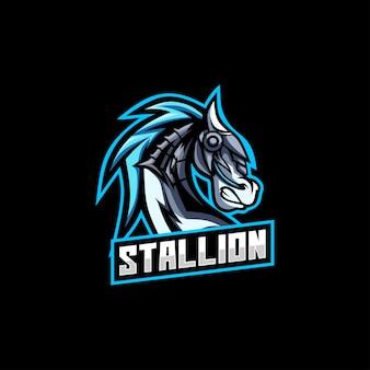 Logotipo do cavalo garanhão