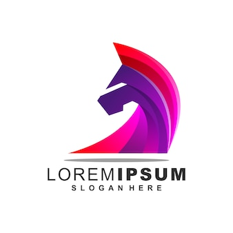 Logotipo do cavalo incrível