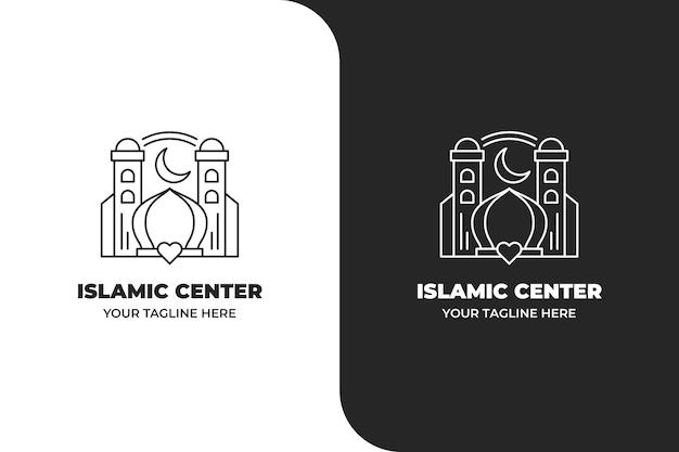 Logotipo do centro islâmico monoline