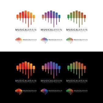 Logotipo do cérebro musical