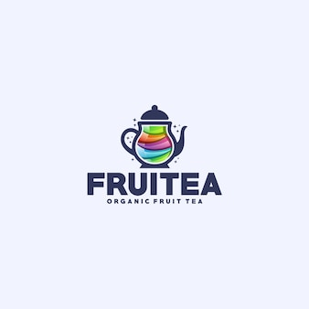 Logotipo do chá da fruta