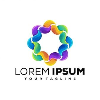 Logotipo do círculo abstrato impressionante