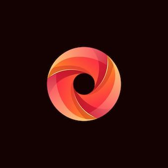Logotipo do círculo de cor moderna abstrata