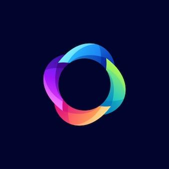 Logotipo do círculo de cor moderna