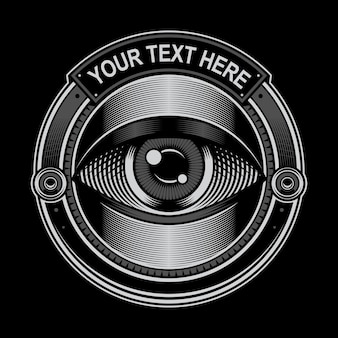 Logotipo do círculo de olho