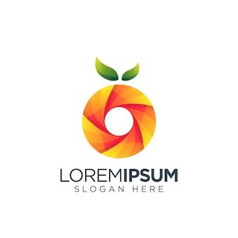 Logotipo do círculo laranja